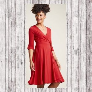 ModCloth Say Yes to Timeless Wrap Dress Sz 1X